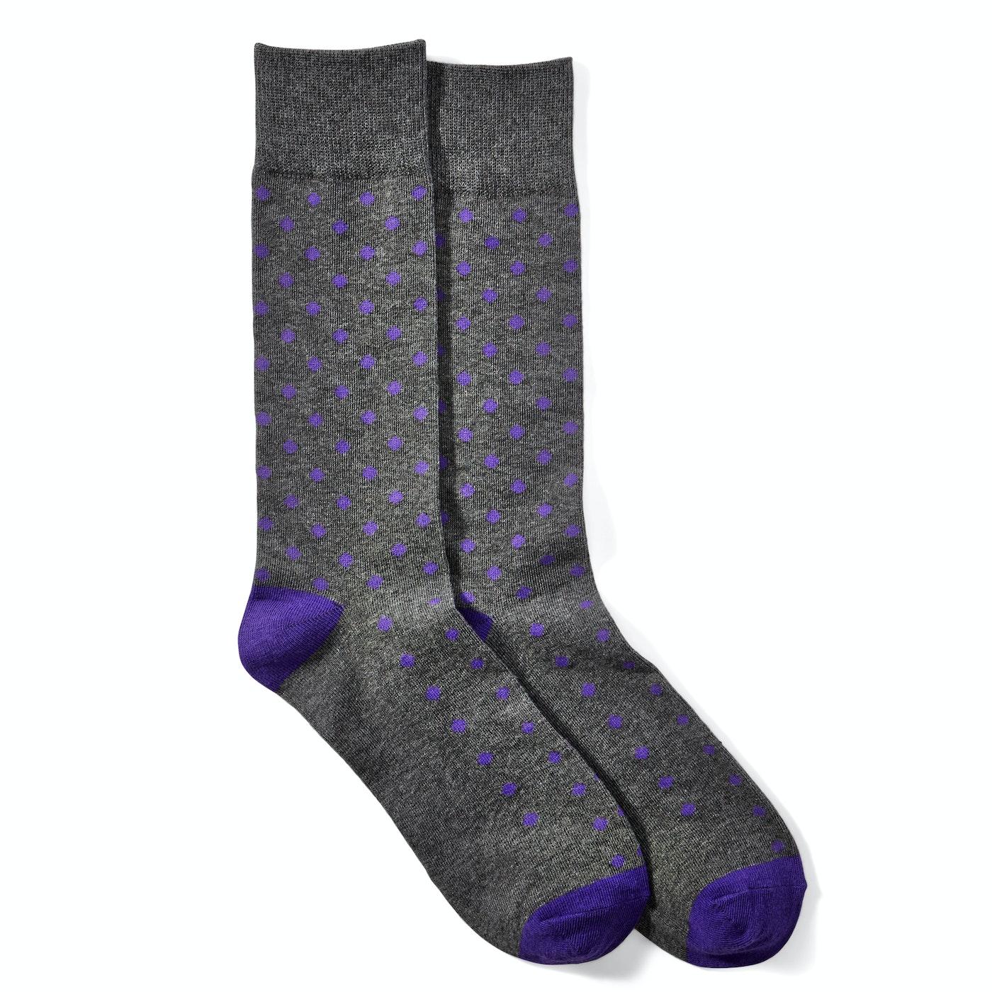 Royal Purple Pin Dot Socks