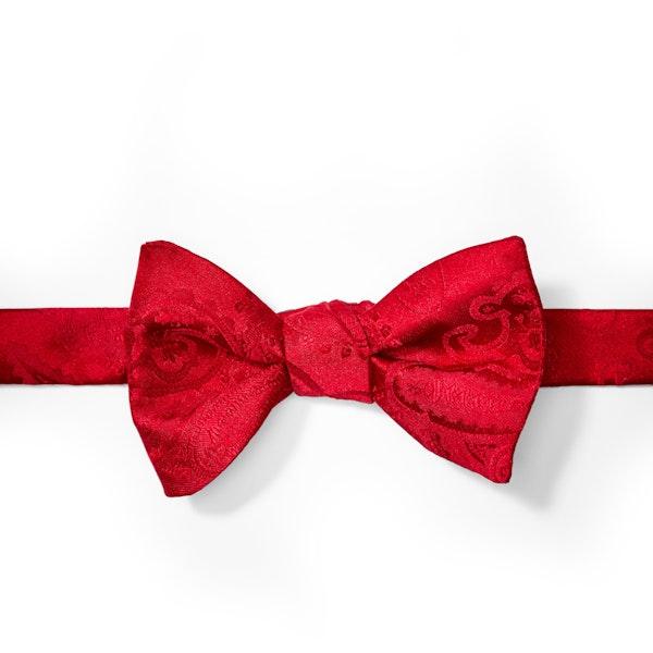 Ruby Valentino Paisley Pre-Tied Bow Tie