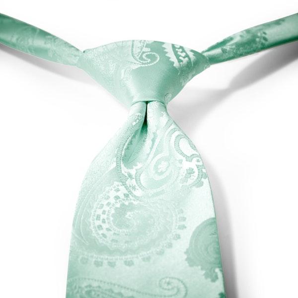 Mint Paisley Pre-Tied Tie