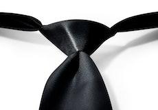 Black Pre-Tied Tie