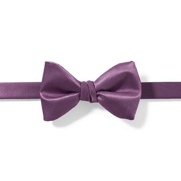 Plum Pre-Tied Bow Tie