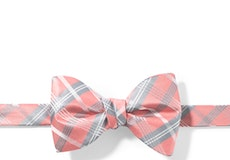 Coral Reef Plaid Pre-Tied Bow Tie