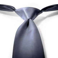 Charcoal-Pewter Pre-Tied Tie