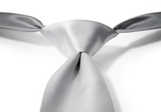 Platinum Pre-Tied Tie