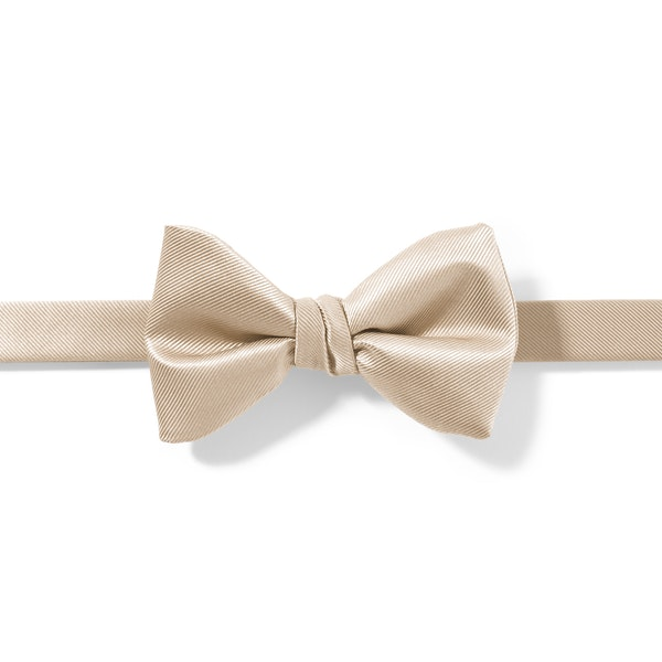 Champagne Pre-Tied Bow Tie