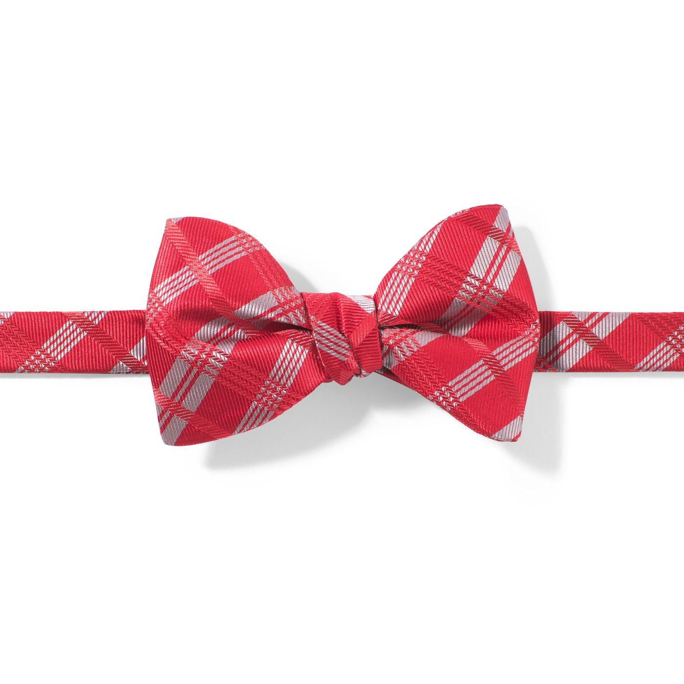 Ruby Valentina Plaid Pre-Tied Bow Tie