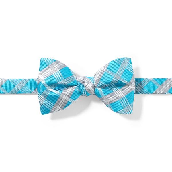 Malibu Plaid Pre-Tied Bow Tie