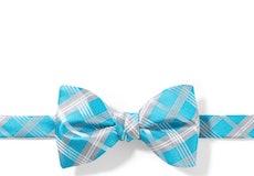 Aqua-Malibu Plaid Pre-Tied Bow Tie