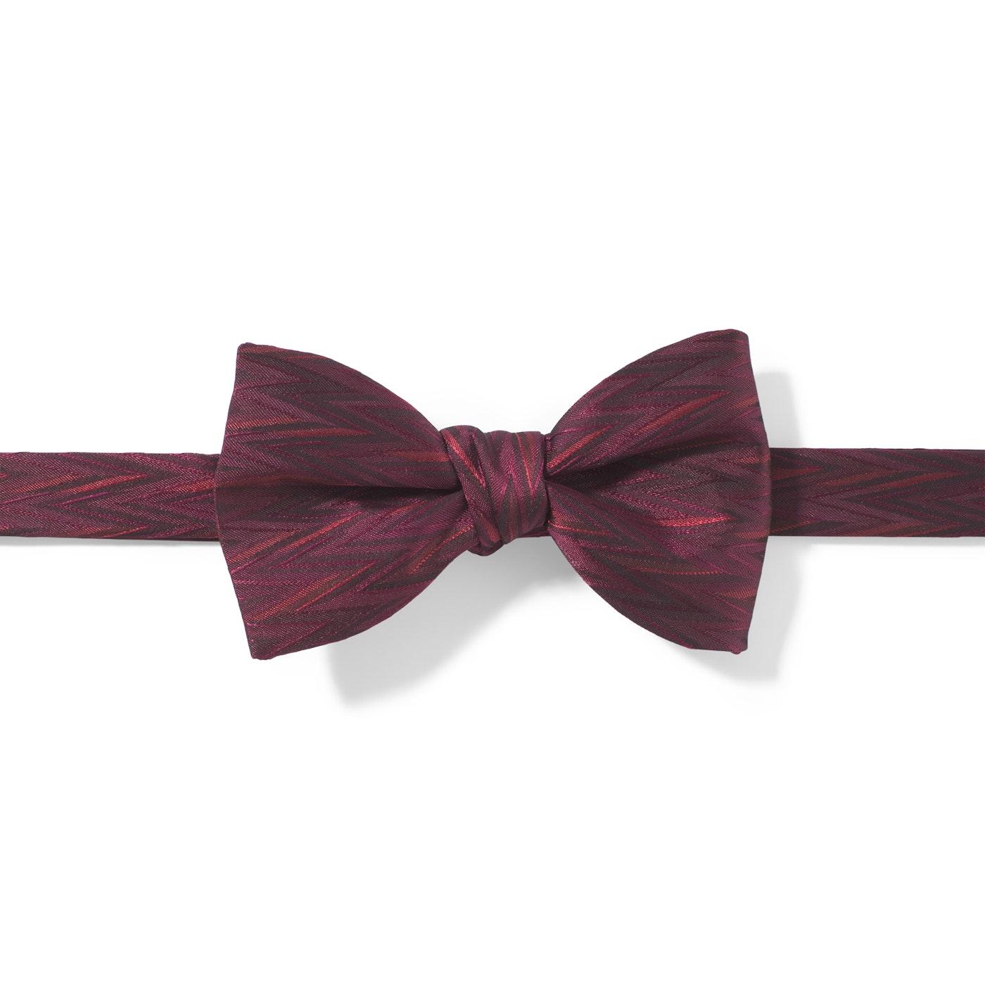 Wine-Sangria Zig Zag Pre-Tied Bow Tie