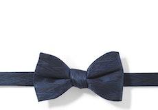 Dark Navy Zig Zag Pre-Tied Bow Tie