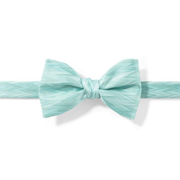 Pre-Tied Tiffany Blue Zig Zag Bow Tie