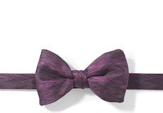 Plum Zig Zag Pre-Tied Bow Tie
