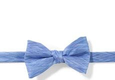 Cornflower Zig Zag Pre-Tied Bow Tie