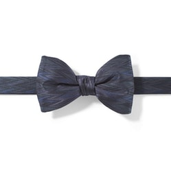 Charcoal-Pewter Zig Zag Pre-Tied Bow Tie