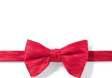 Ruby Valentino Zig Zag Pre-Tied Bow Tie