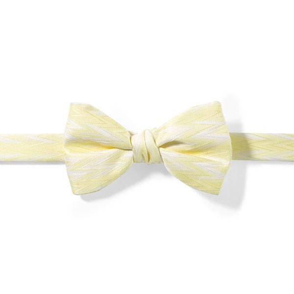 Canary Zig Zag Pre-Tied Bow Tie