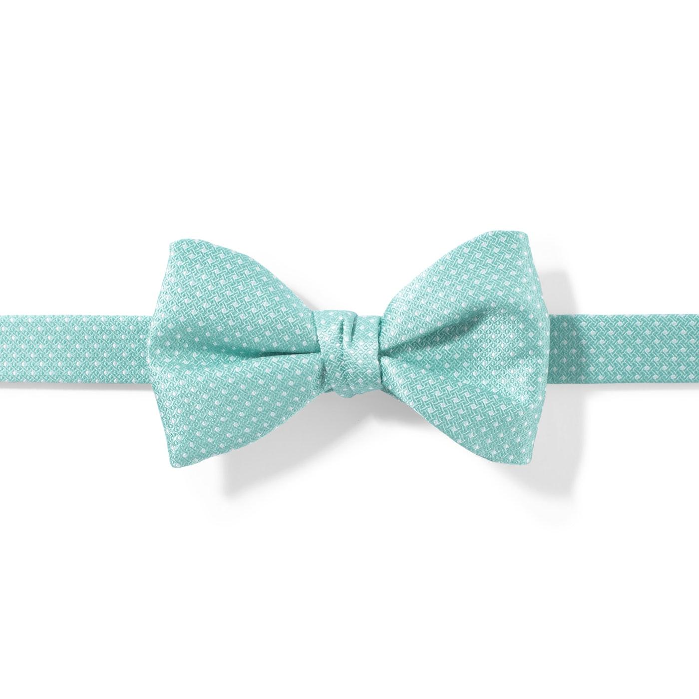 29f3c304e66 Tiffany Blue and White Pin Dot Pre-Tied Bow Tie