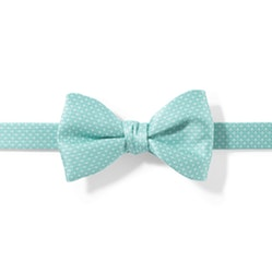 Tiffany Blue and White Pin Dot Pre-Tied Bow Tie