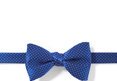 Horizon and White Pin Dot Pre-Tied Bow Tie