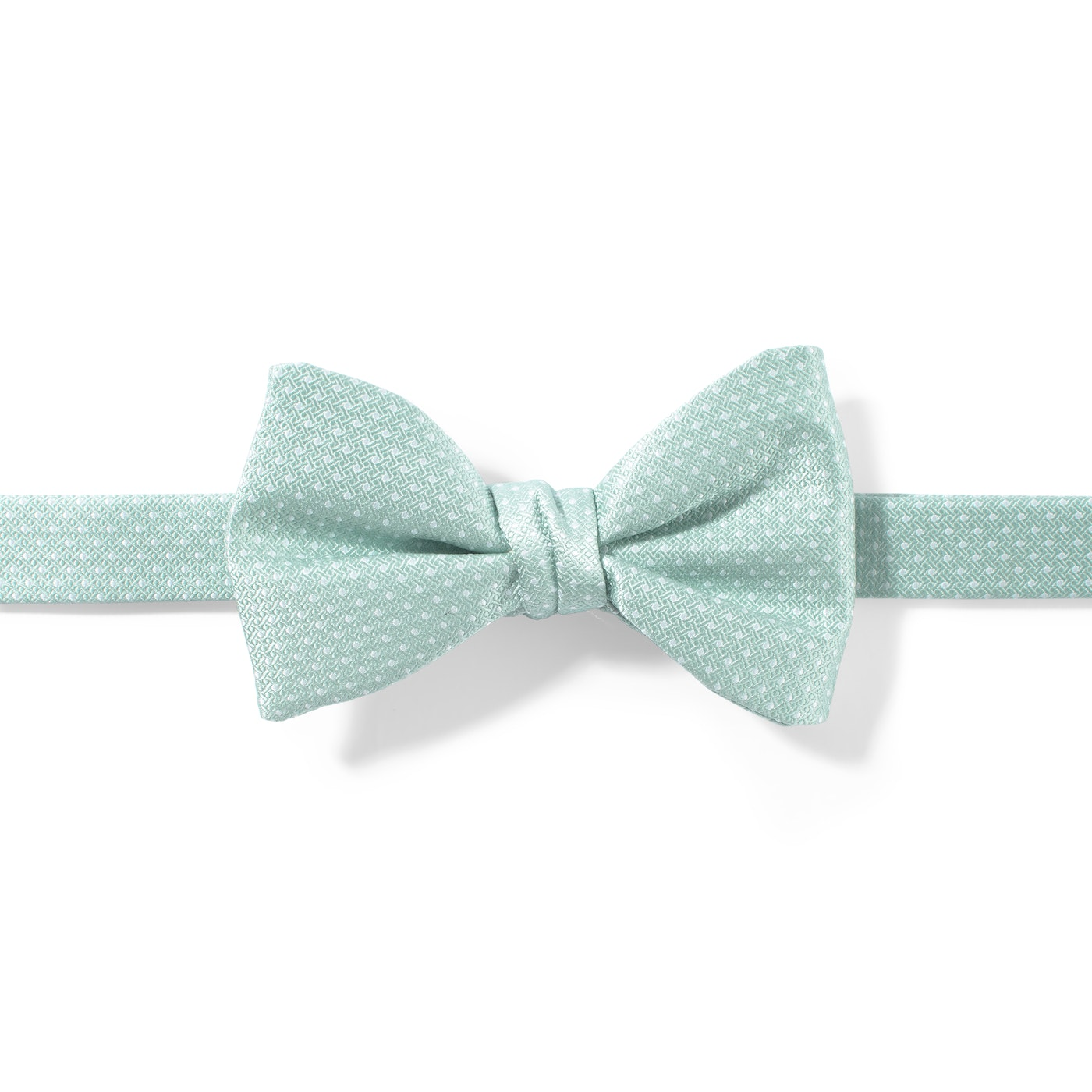Mint and White Pin Dot Pre-Tied Bow Tie