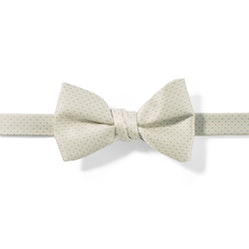 Ivory and White Pin Dot Pre-tied Bow Tie