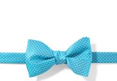 Malibu and White Pin Dot Pre-Tied Bow Tie
