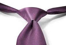 Plum Pre-Tied Tie