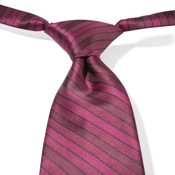 Sangria Striped Pre-Tied Tie