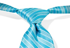 Aqua-Malibu Pre-Tied Striped Tie