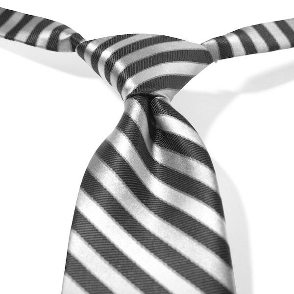 Black Striped Pre-Tied Tie
