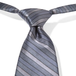 Charcoal-Pewter Striped Pre-Tied Tie