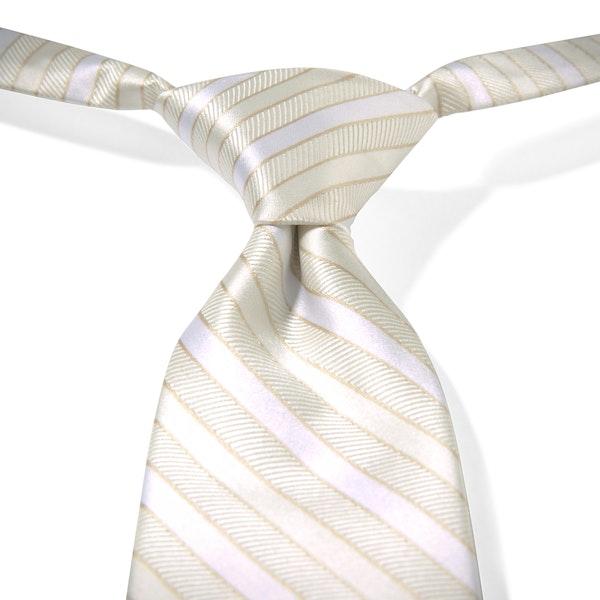 Ivory Striped Pre-Tied Tie