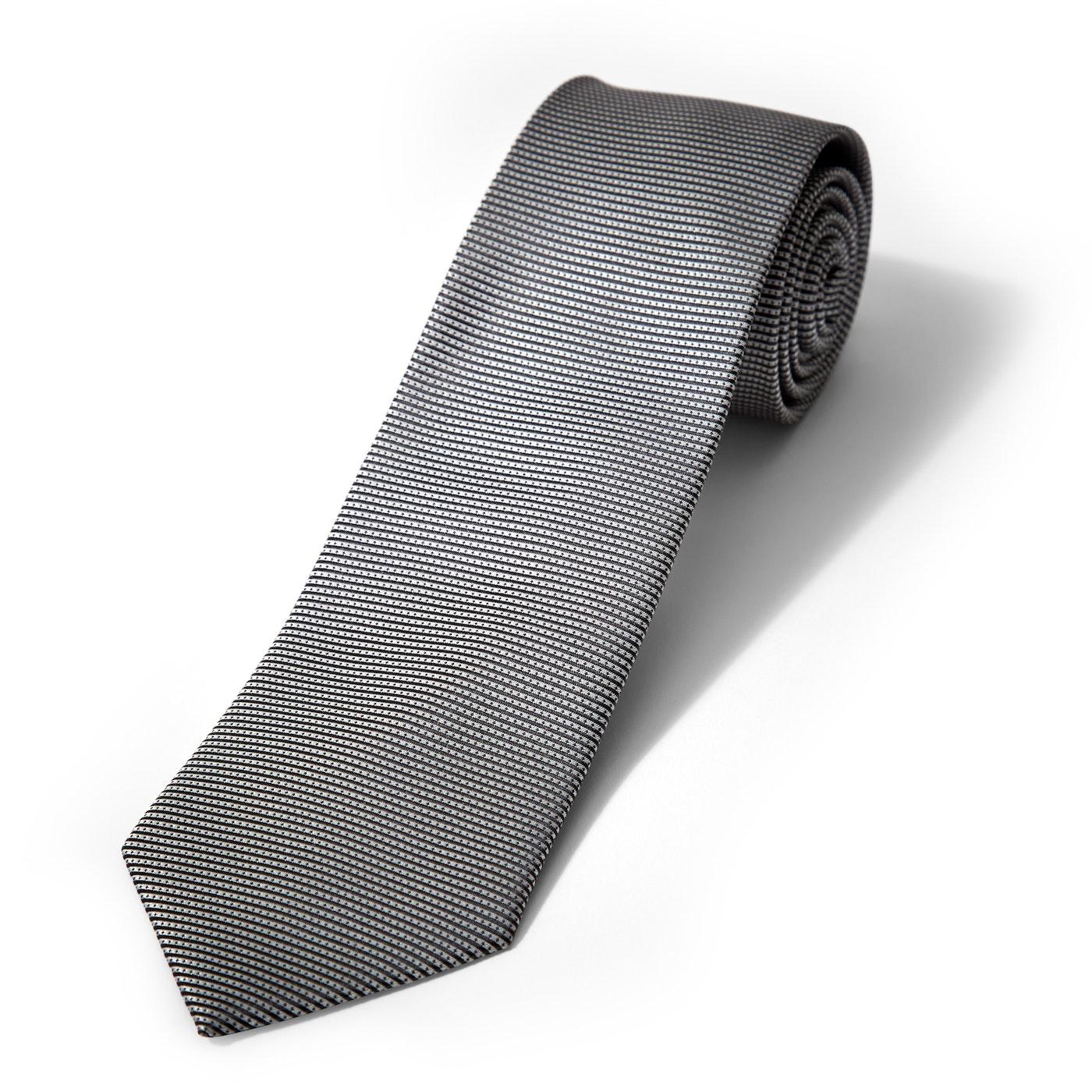 Iridescent Platinum Dobby Tie