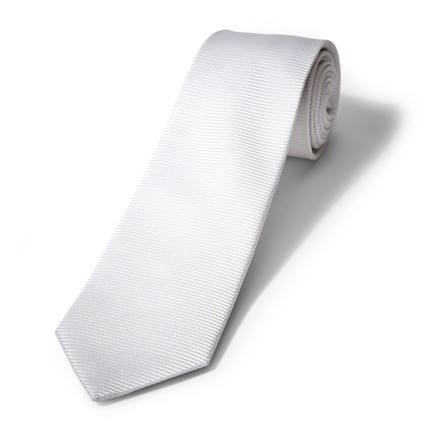 Iridescent White Dobby Tie