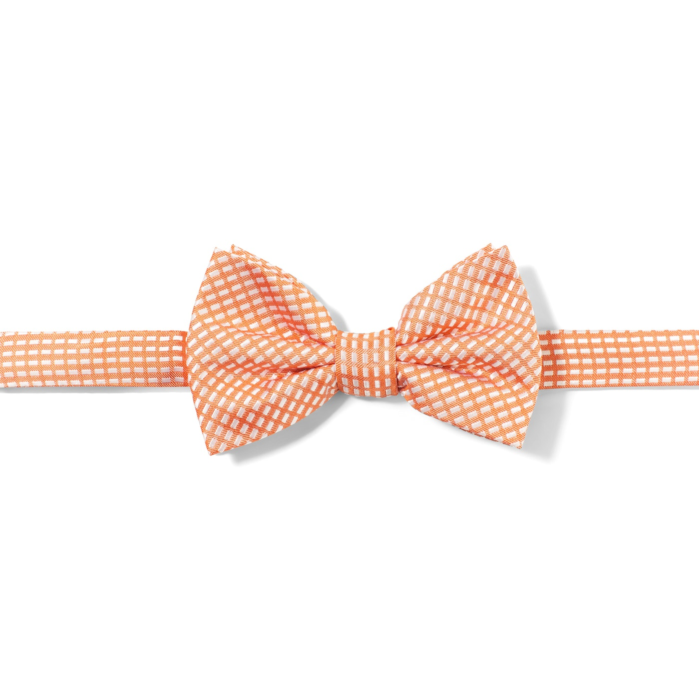Orange Diagonal Dobby Pre-Tied Bow Tie