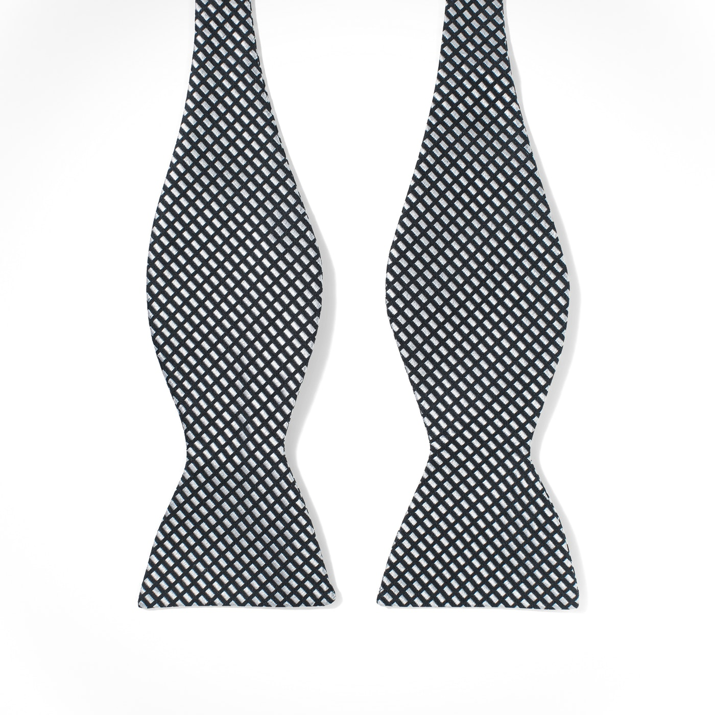 Black Diagonal Dobby Bow Tie