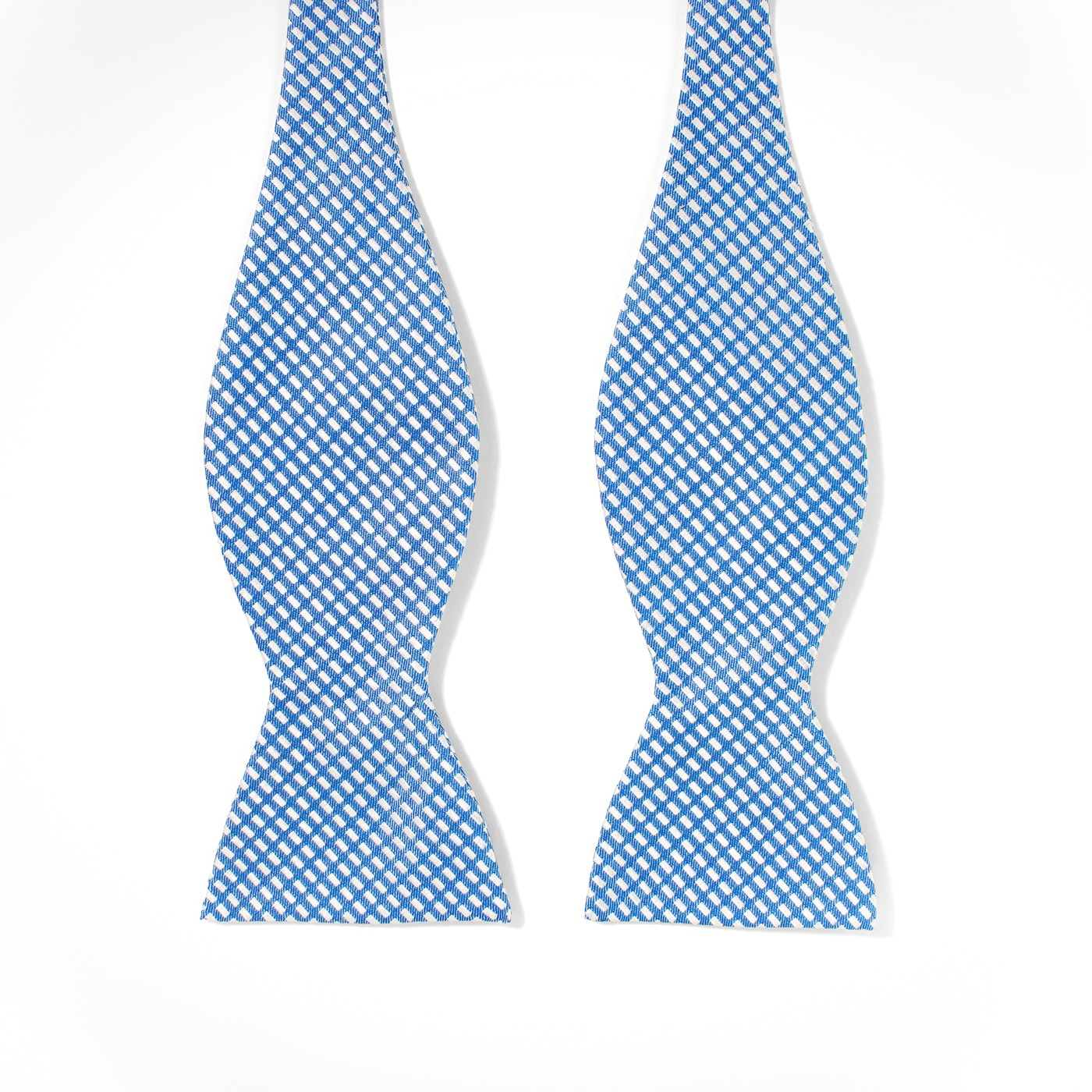 Medium Blue Diagonal Dobby Tie