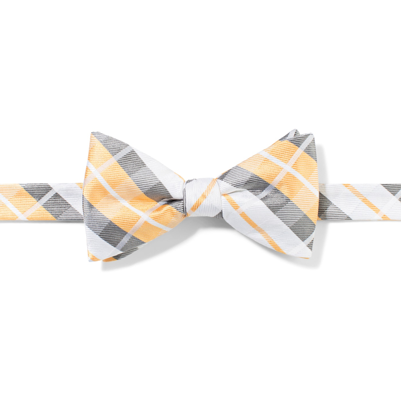 Yellow Oversized Plaid Pre-Tied Bow Tie