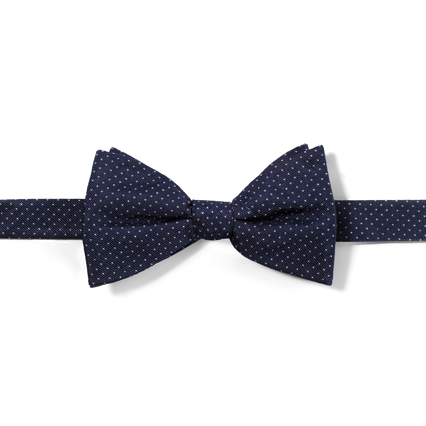 Navy and White Pin Dot Tie