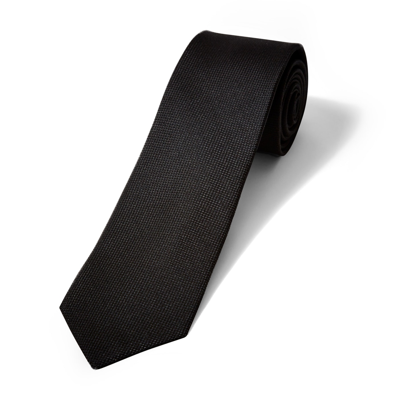 Black Textured Micro Square Tie