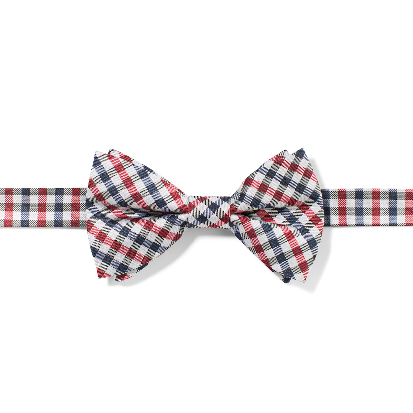 Red Gingham Pre-Tied Bow Tie