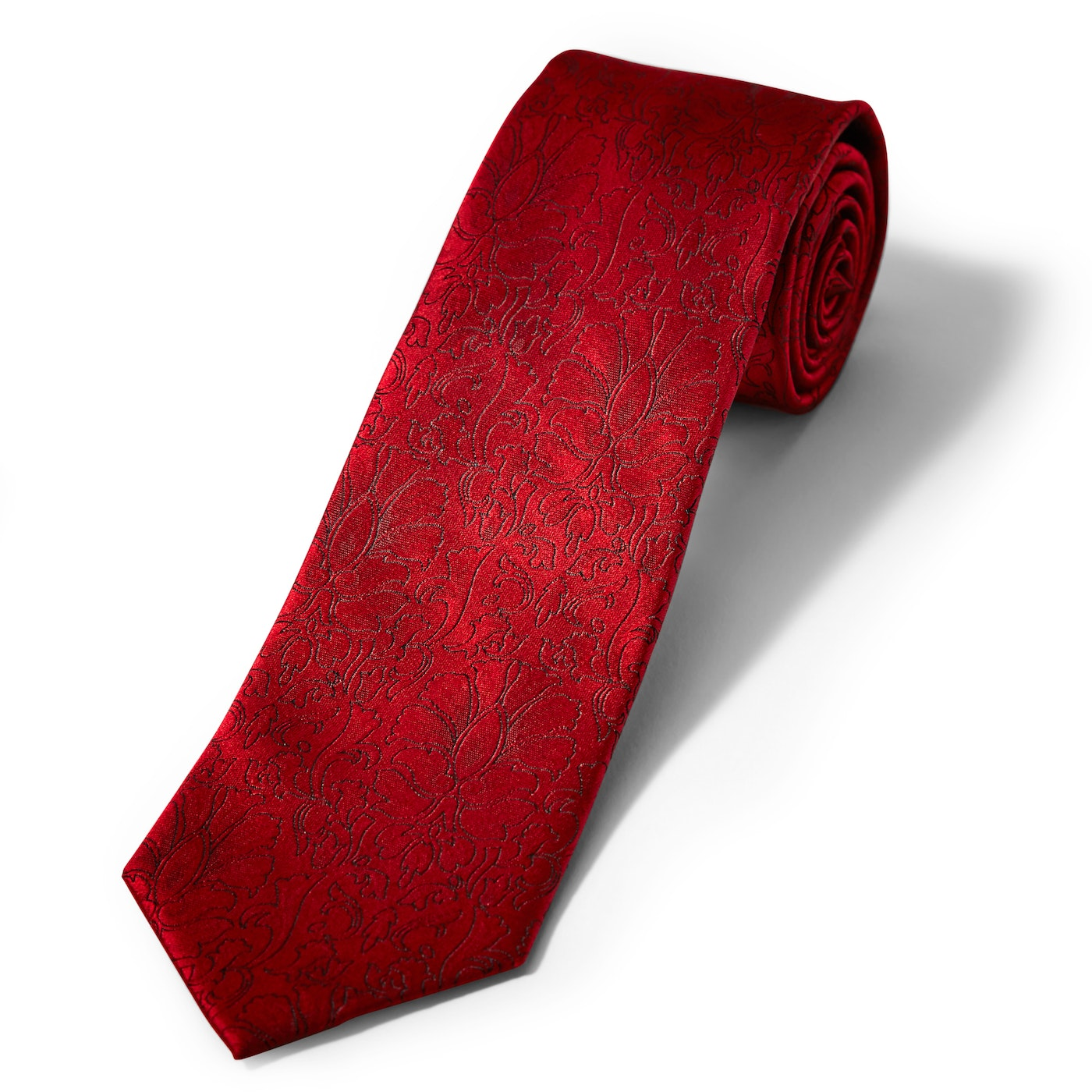Ruby Etched Floral Tie