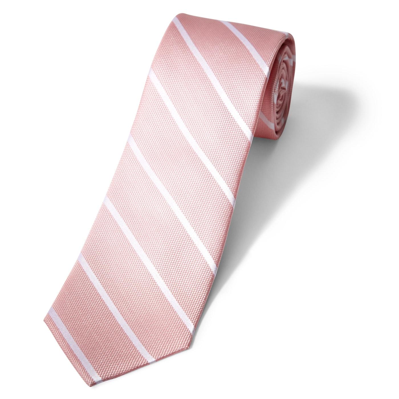 Pink Thin Stripe Tie