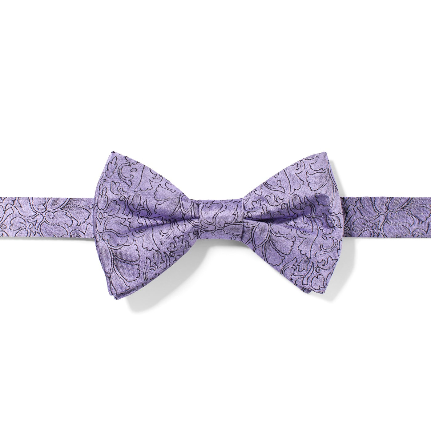 Lilac Etched Floral Bow Tie