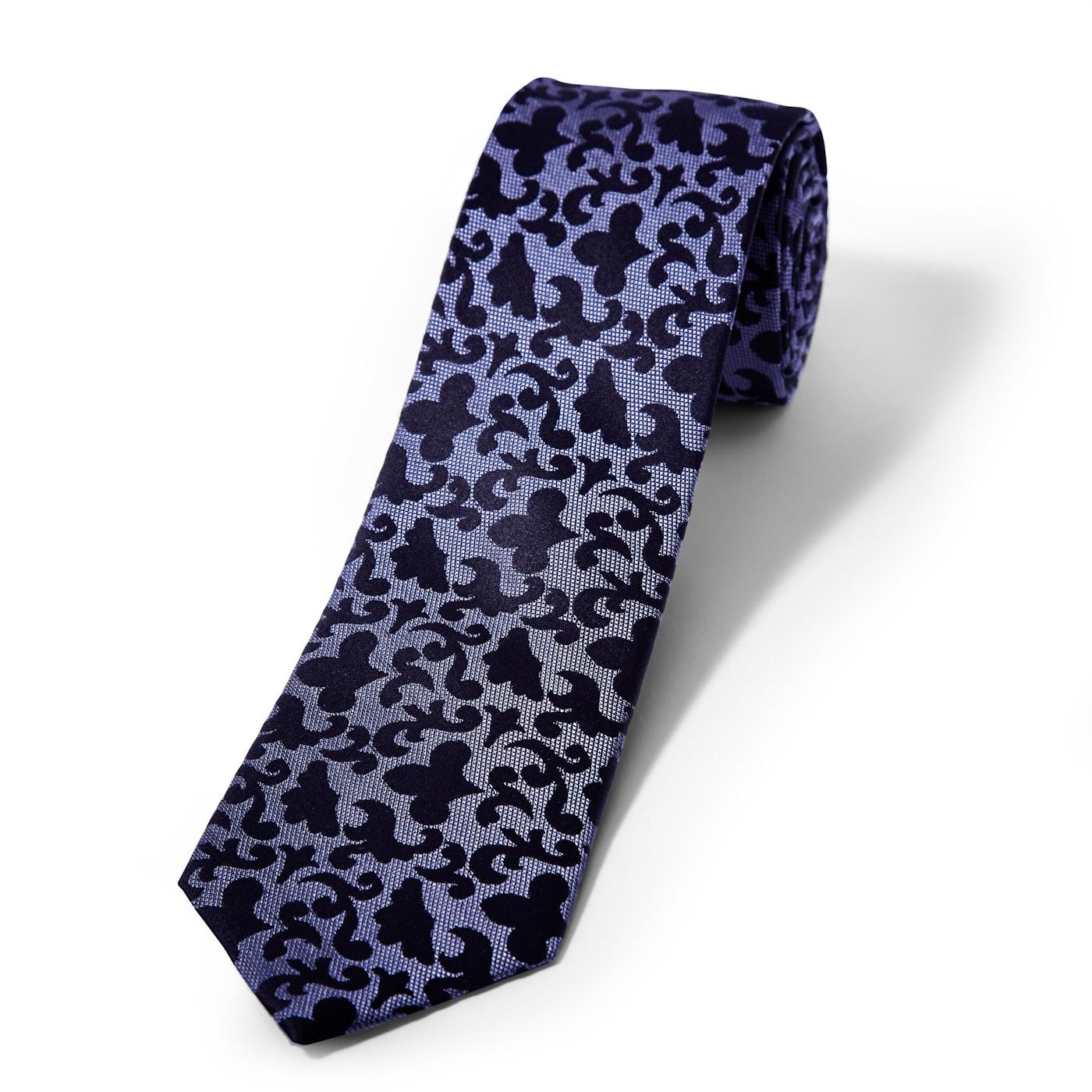 Purple Vintage Brocade Tie