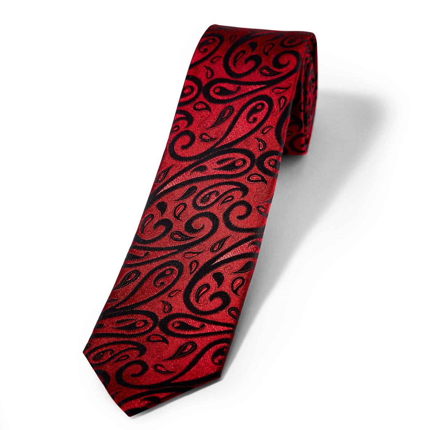 Wine Paisley Tie