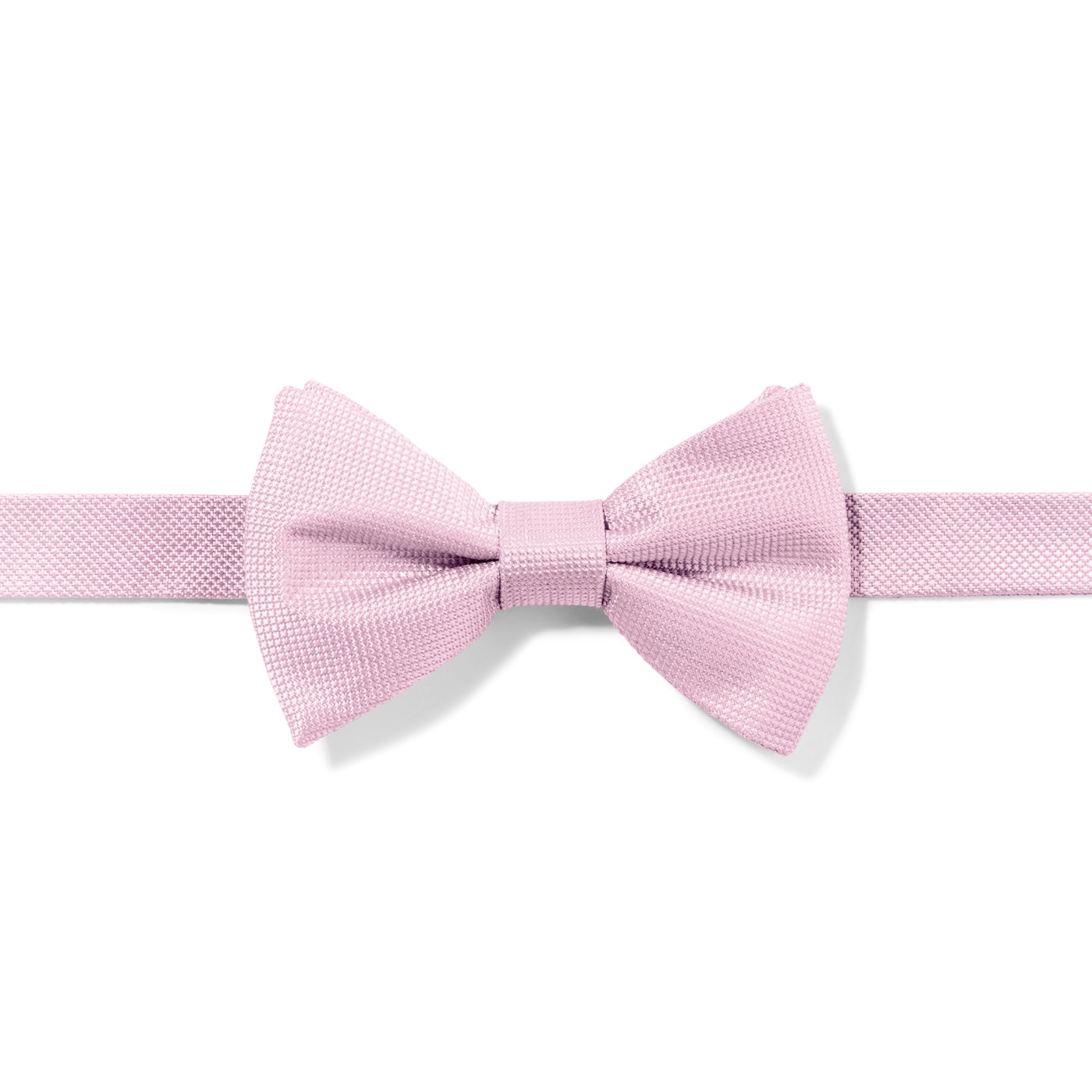 Pink Textured Micro Square Pre-Tied Bow Tie