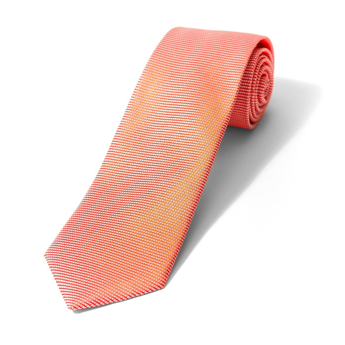 Iridescent Orange Dobby Tie