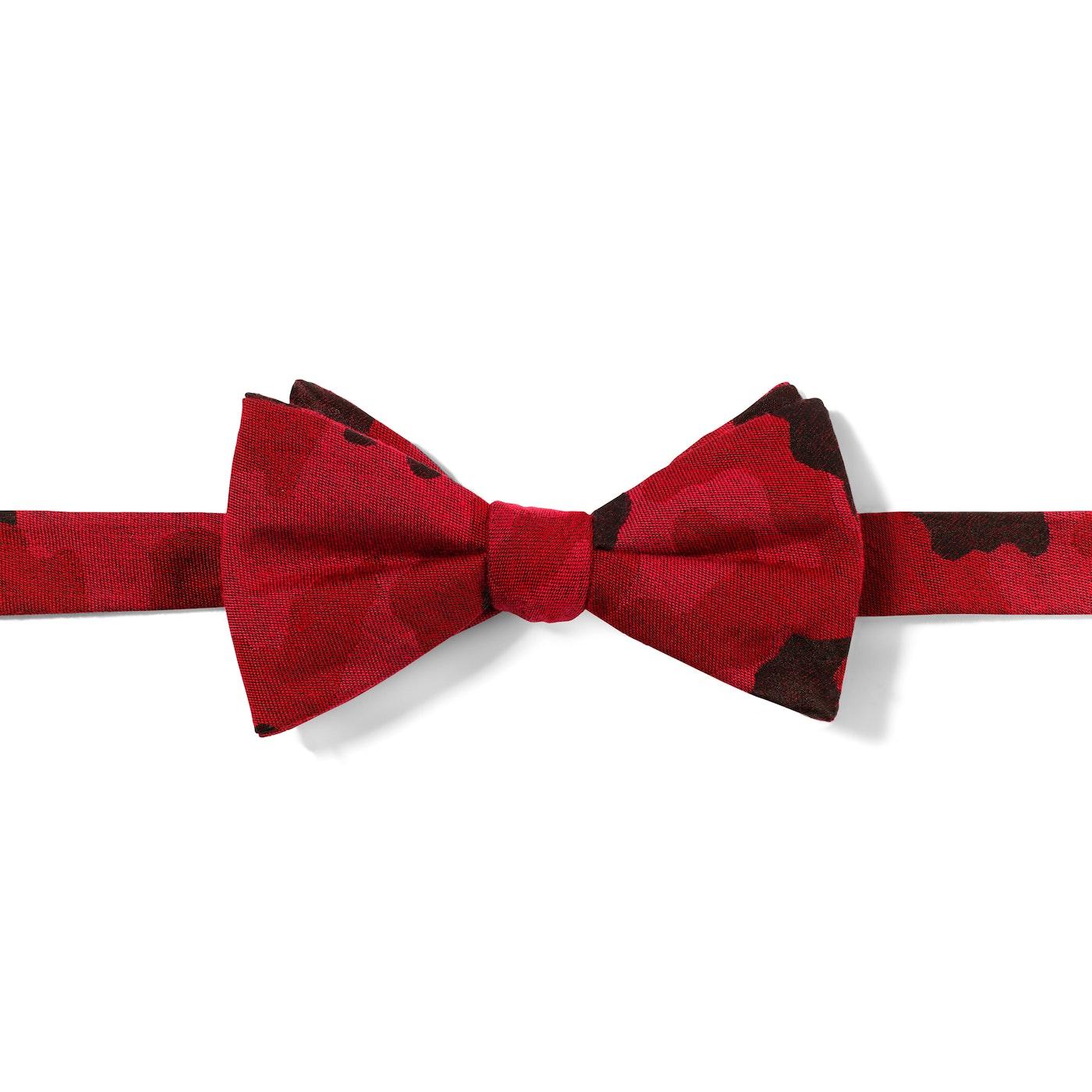 Wine Camo Pre-Tied Bow Tie