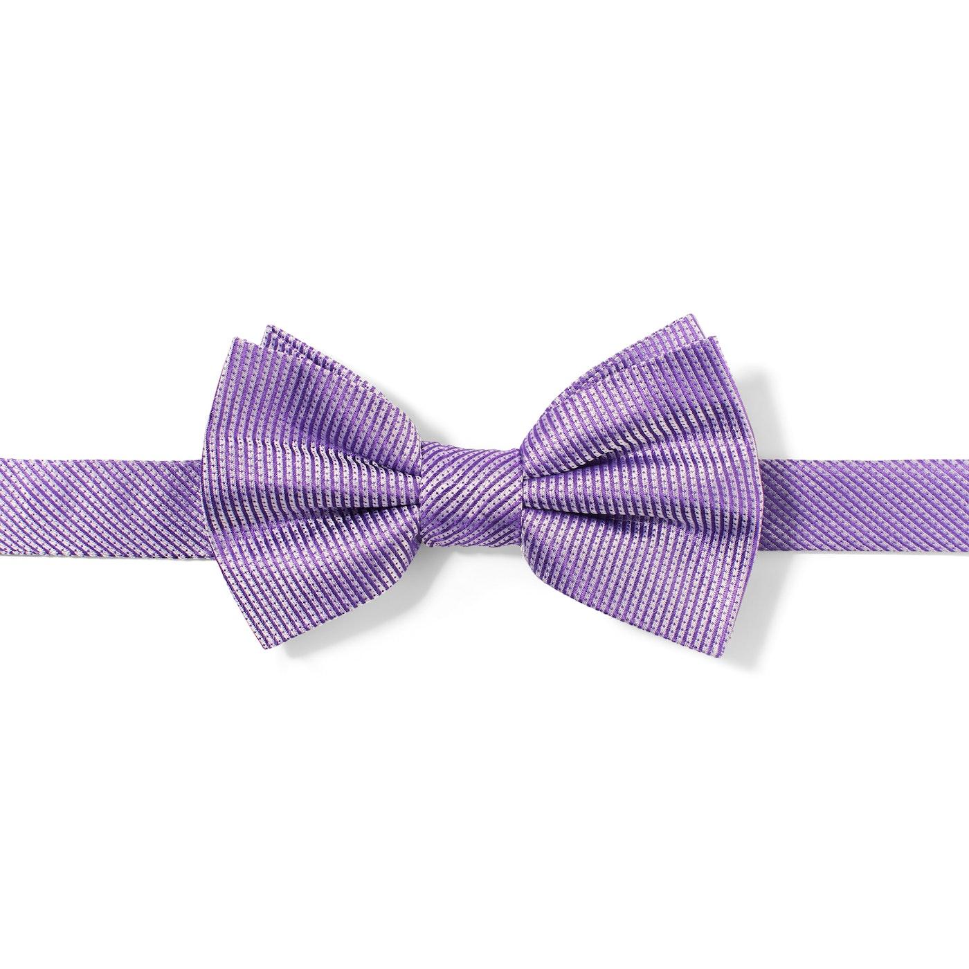 Lilac Dobby Pre-Tied Bow Tie